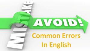اشتباهات رایج انگلیسی
