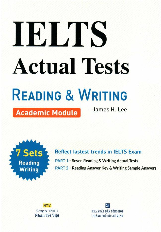دانلود رایگان کتاب IELTS Actual Tests Reading and Writing