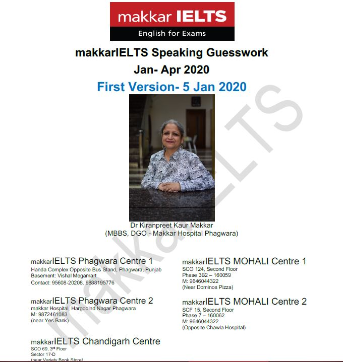 دانلود کتاب Makkar IELTS Speaking Guesswork